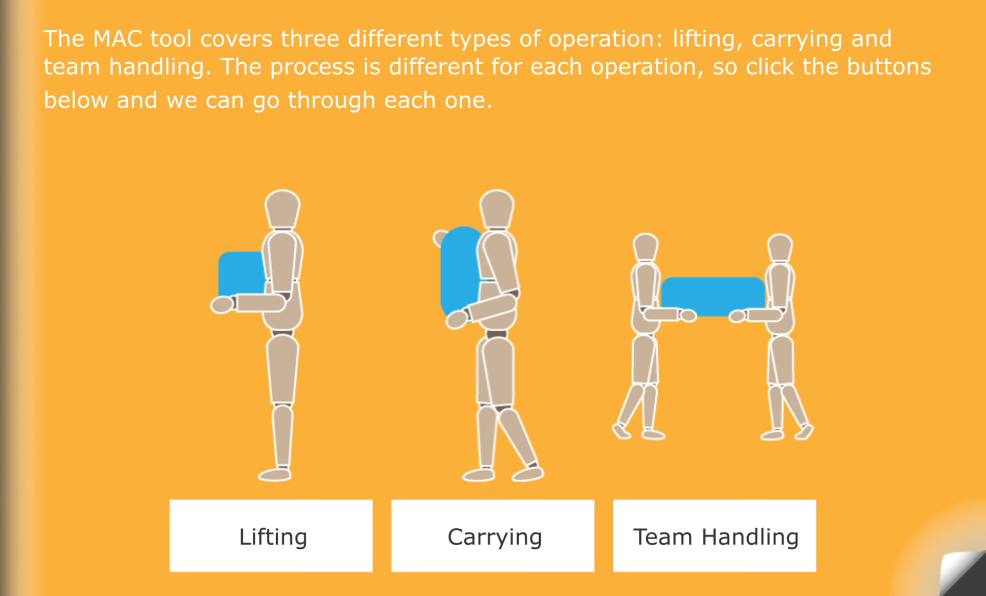 flick learning's manual handling - the MAC tool course