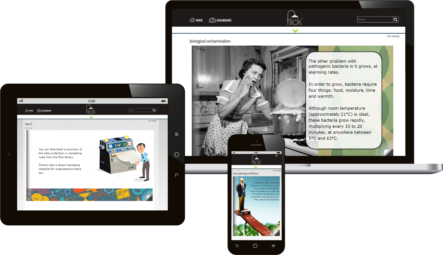 responsive e-learning with flick learning